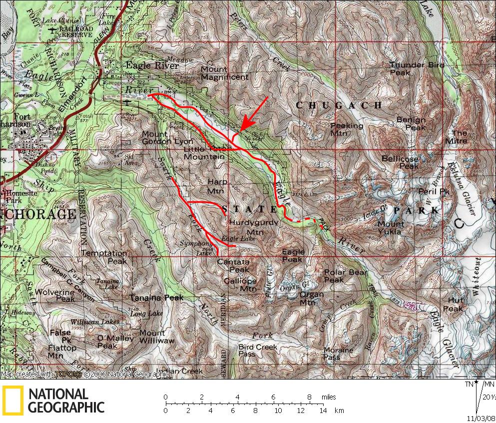 Eagle River Nature Center Map